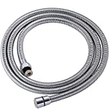ThreeE Shower Hose 60 Inches Stainless Steel Wand for Bathroom Faucet or Handheld showerhead or Hand Held Bidet Sprayer Anti-burst Replacement Hoses Chrome High Pressure Explosion-proof 1.5 Meter