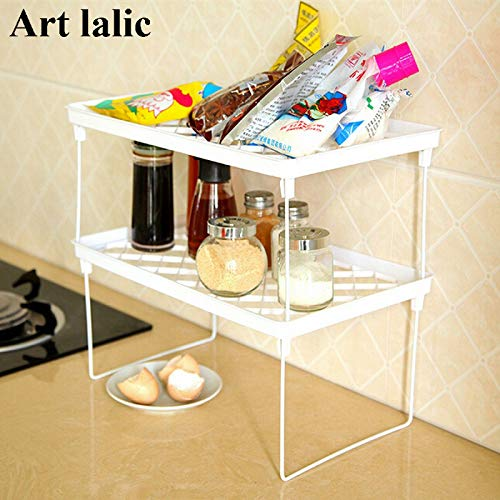 Multi Layer Shelf Snap Type Plastic Foldable Storage Racks Kitchen Shelving Holders Multi Use Organizer Organizador S