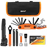 4. Bicycle Repair Bag & Bicycle Tire Pump, Home Bike Tool Portable Patches Fixes, Fixe, Inflator, Maintenance For Camping Travel Essentials Tool Bag Bike Repair Tool Kit Safety Emergency All In One Tool