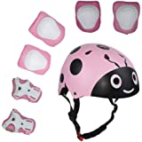 UniqueFit Lucky-M Kids Outdoor Sports Protective Gear,Boys and Girls Safety Pads Set [Helmet,Knee&Elbow Pads and Wrist…