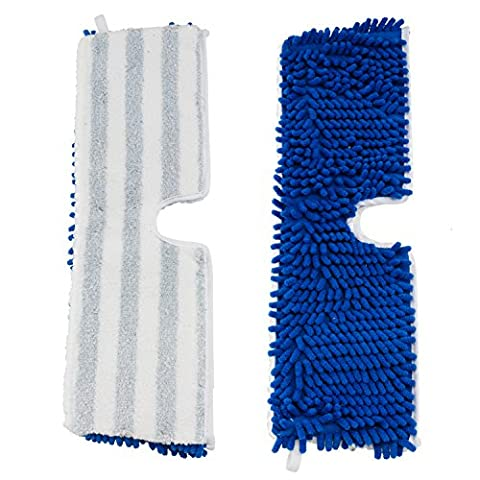 Houseables Flip Mop Refills, Replacement Pads, 3 Pack, 18 Inch, Dual-Action Microfiber Floor Mops, Dry/Wet, Machine Washable, Double Sided Velcro Flat Sponge, 18