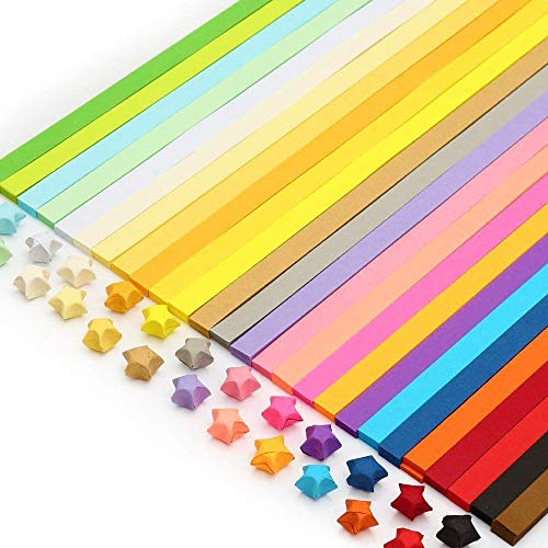 QTFHR 1030 sheets Origami Stars Papers Package DIY Paper - 27 Colors ()