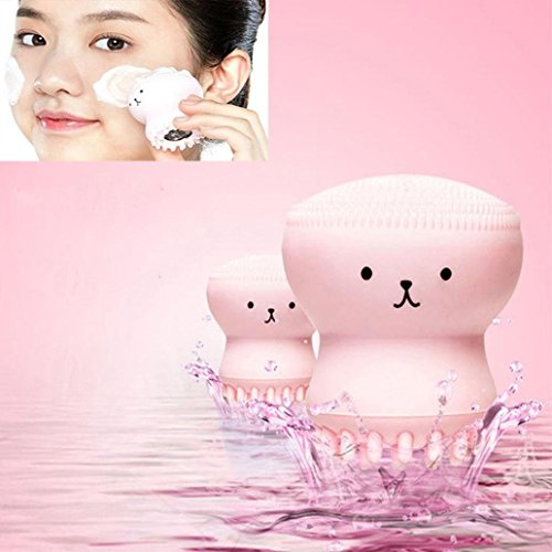 My Beauty Tool Exfoliating Jellyfish Silicon Brush / Pore Brush WensLTD (Pink) (Wen Brush)