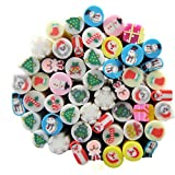 Pure Vie 50 Sticks 3D Nail Art Fimo Canes Slices Polymer DIY Cute Design Decoration Sticker Rods, #3