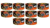 Gorilla Tape, Black Tough & Wide Duct Tape, 2.88'' x 30 yd, Black, (Pack of 10)