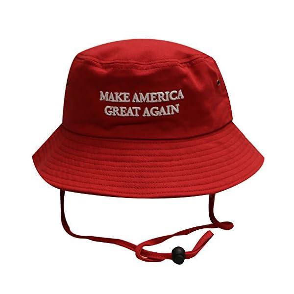 Bd2024 Bold Trump Make America Great Again Bucket Hat Red - AMERICAN ... c7e76f2a401