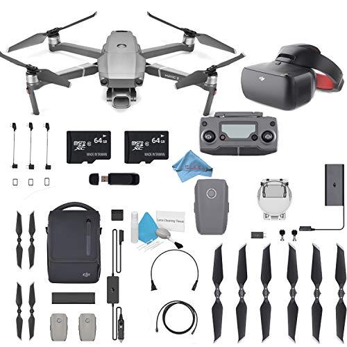 "DJI Mavic 2 Pro Drone Quadcopter 24-48mm Optical Zoom Camera Video UAV 12MP 1/2.3"" CMOS Sensor (US Version) Flymore FPV Bundle"