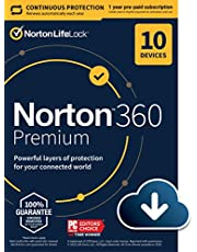 $34 » Norton 360 Premium 2021 – Antivirus software for 10 Devices with Auto Renewal - Includes VPN, PC Cloud Backup & Dark Web Monitoring powered by LifeLock [Download]