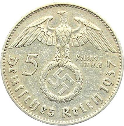 IMPACTO COLECCIONABLES Monedas Antiguas - Alemania, 5 Marcos 1934. La Plata del Tercer Reich: Amazon.es: Juguetes y juegos