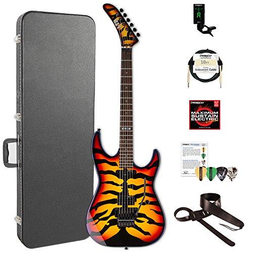 ESP LGL200SBT-KIT-2 George Lynch Signature Sunburst Tiger Electric Guitar, Sunburst Tiger Graphic
