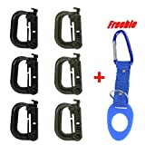 Arunners 6Pcs/pack Multipurpose D-Ring Grimloc Locking for Molle Webbing,MOLLE Systems and Equipment Keychain Backpack Accessories Hiking Fishing Camping 5#