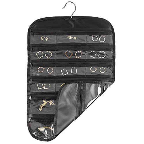 FloridaBrands 31-Pocket Hanging Jewelry and Accessory Organizer with Silver Hook - Black by FloridaBrands (Image #2)