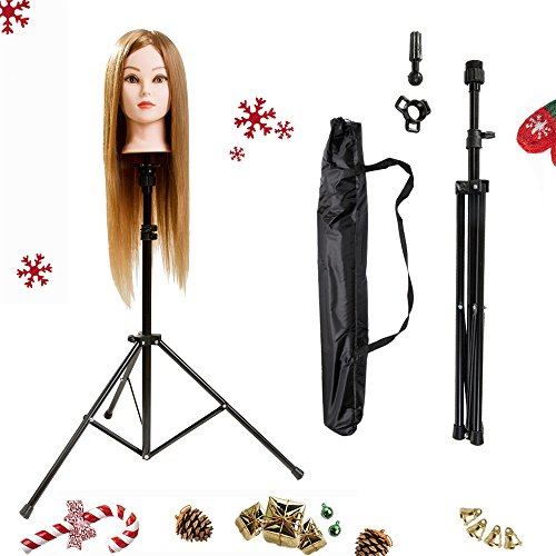 HYOUJIN-Metal-Adjustable-Tripod-Stand-Holder-for-Hairdressing-Training-Head-Mannequin-Head-with-Carry-Bag
