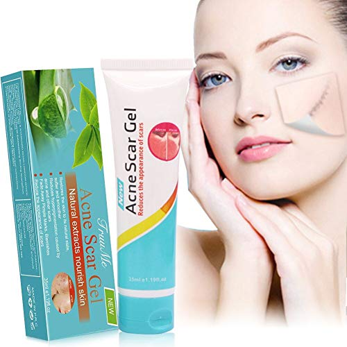 Acne Scar Remover, Acne scar treatment, Scar Removal, Scar Gel, Scar Remover Gel for Face Body, Old & New Scars from Cuts, Stretch Marks, C-Sections & Surgeries, Natural & Gentle