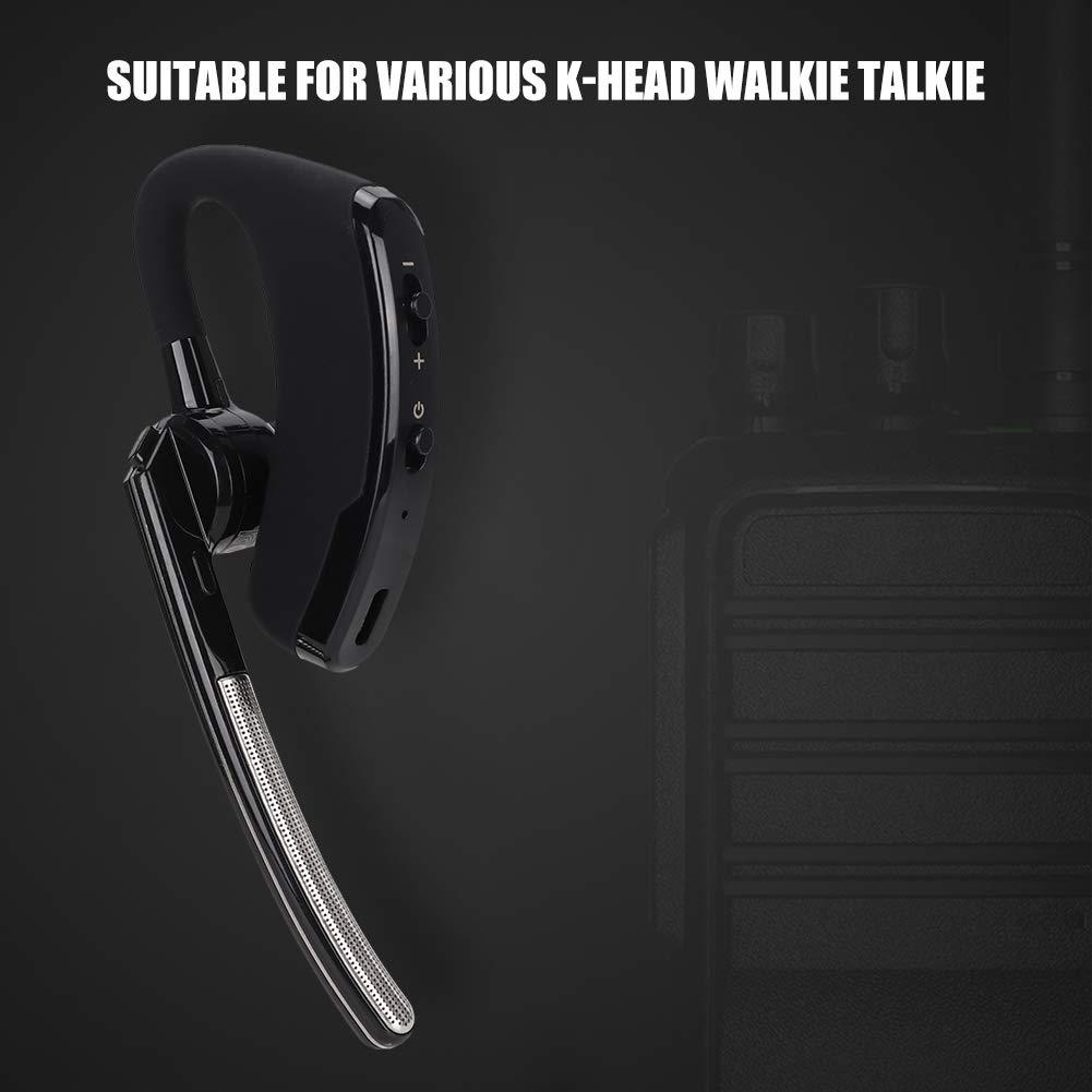Ciglow Bluetooth Earpiece, Portable K-Head Wireless Bluetooth 4.0 Headset Earpiece with PTT Microphone Interphone Bluetooth Headset for All K-Plug Walkie Talkie by Ciglow (Image #9)