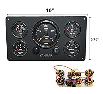 51N PGWIzUL._SX355_ amazon com yanmar marine instruments panel custom made, with yanmar wiring harness at creativeand.co