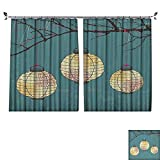 DESPKON Facial Blend Fabric high Density Three Paper Lanterns Hanging The Branches Lighting Fixture Source Lamp Shading for Bedroom W120 x L108