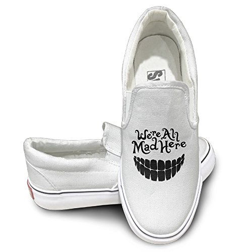 HIPPO Evil Teeth We're All Mad Here Brand Fashion Printed Canvas Shoes 37 New Design - Dead Cleopatra Costume