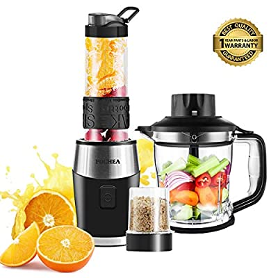 Smoothie Blender, High-Speed Personal Blender for Smoothies and Ice Shakes, 2018 Upgraded 3-in-1 Professional Blender for Mixer/Chopper / Grinder, With 570ml Portable BPA-Free Bottle, 700 Watt