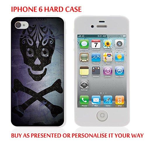 Gc104_iph6 Coque Étui iPhone 6)-black skull-graphic design personnalisé avec votre texte personnalisé produits fabriqués et vendus Par ThatVinylPlace