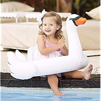 Oima Baby White Swan Inflatable Pool Float - Inflatable Baby/Infant White Swan Swim Ring Pool Float - Popular Baby/Infant Swimming Toy - Learn Swimming For Baby/Infants