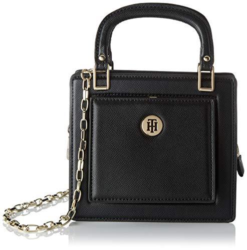 Tommy Hilfiger - Th Fashion Crossover, Bolsos bandolera Mujer, Negro (Black), 8.5x16.7x18.8 cm (W x H L)