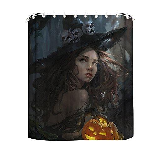 CELYCASY Happy Halloween Pumpkin Jack-O-Lantern with Witch Halloween