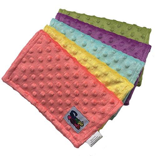 Baby Girls 5 Pack Minky Dot Burp Cloths - Fun Fashion