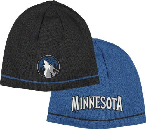 Knit Reversible Adidas - adidas Minnesota Timberwolves Over and Back Reversible Knit Hat