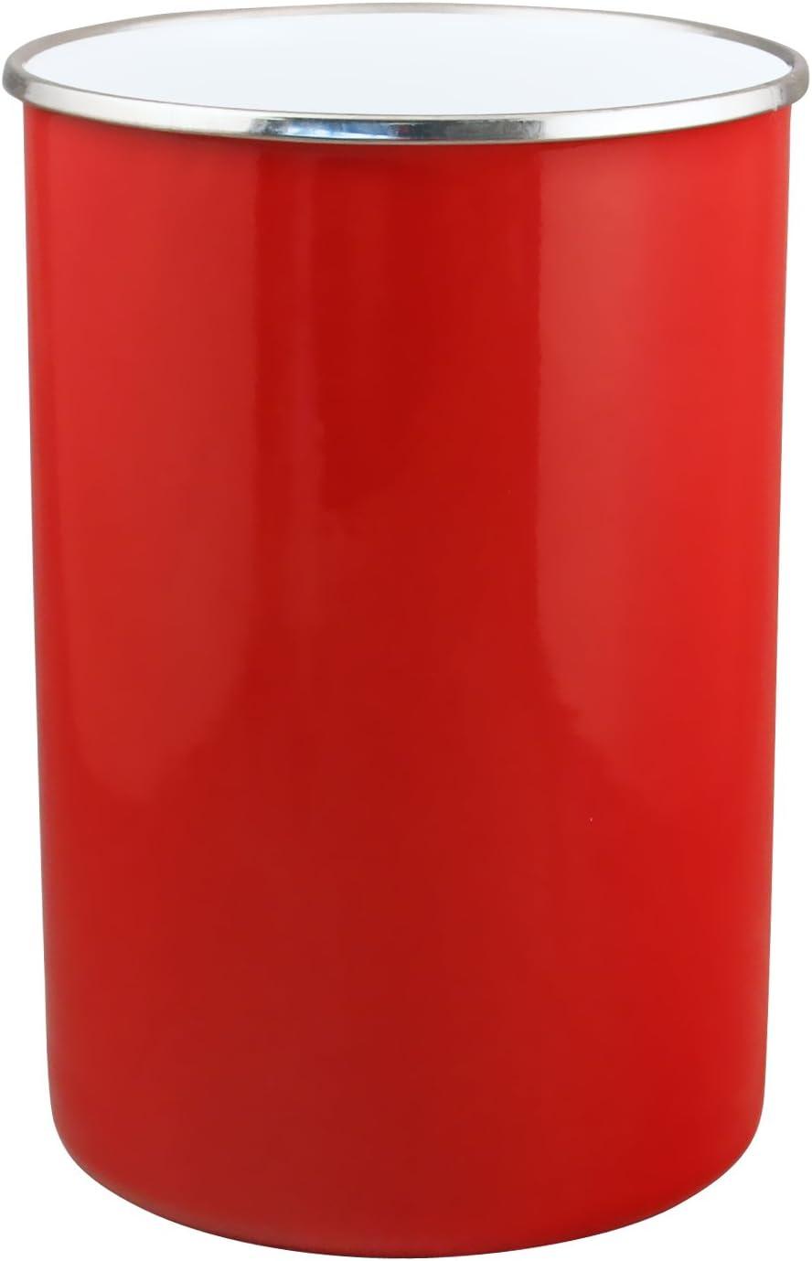 Reston Lloyd 82600 Calypso Basics by Enamel on Steel Utensil Holder, Red, Standard