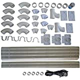 ZVac Compatible Installation Kit Replacement All Central Vacuum Accessories Compatible All Homes Rough-in Built-in CVac…