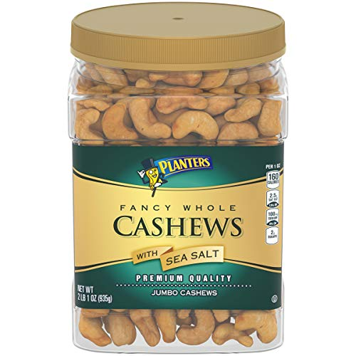 - Planters Salted Whole Cashews (33oz Container)
