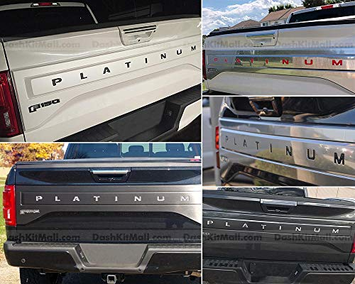(SF Sales USA - Black Tailgate Letters F-150 Platinum 2015-2017 F150 Rear Inserts Not Decals)