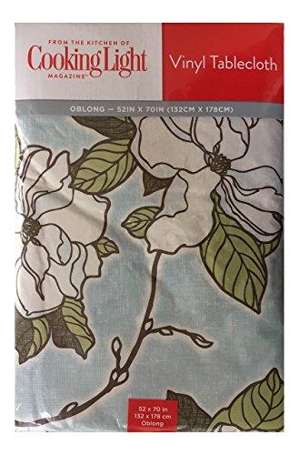 - Cooking Light Vinyl Tablecloth 52x70 Oblong - Savannah Sky