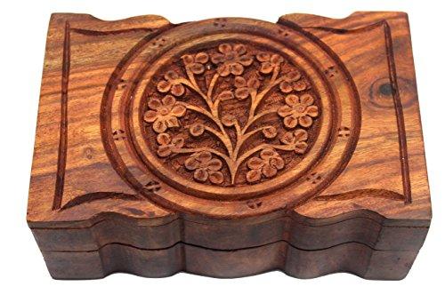 (Govinda Rosewood Box Tree of Life 4 x 6)