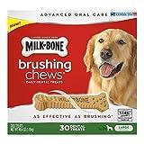 Milk-Bone Brushing Chews Daily Dental Treats, Large (30 ct.) by Milk-Bone