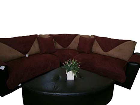 Enjoyable Quilted Bonded Or Classic Micro Suede Sectional Sofa Throw Pads In Different Color And Size Wine Burgundy 35X82 Download Free Architecture Designs Momecebritishbridgeorg