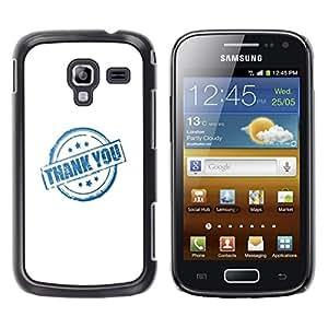 Dragon Case - FOR Samsung Galaxy Ace 2 - thank you all - Caja protectora de pl??stico duro de la cubierta Dise?¡Ào Slim Fit