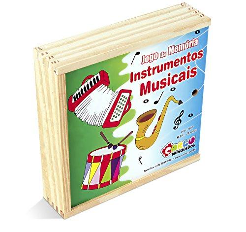 Musicalização Memoria Instrumentos Musicais Mdf 28 Peças Caixa Carlu Brinquedos
