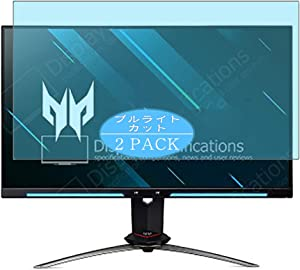"""[2 Pack] Synvy Anti Blue Light Screen Protector Compatible with Acer Predator XB273UGS 27"""" Display Monitor Screen Film Protective Protectors [Not Tempered Glass]"""