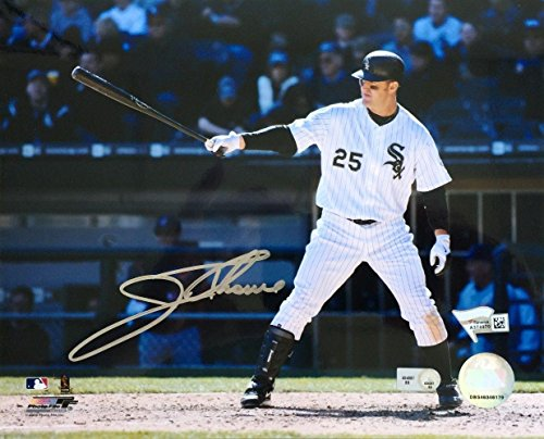 Jim Thome Autographed Picture - 8x10 Batting Fanatics - Fanatics Authentic Certified - Autographed MLB Photos