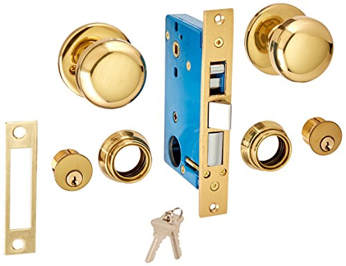 UltraSecur 44630 Lock Mortise, Knob + 2Cy Dbolt (Old Style Hardware Door)