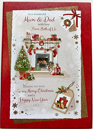 Amazon.com: Nice Verse Christmas & Happy New Year Card - Mum and Dad ...