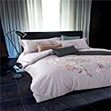 Chinese shtyle Bedding Collection Satin Vintage Embroidery 4 Piece Bed Sheet Set Durable Egyptian Cotton Duvet Cover Flat Sheets Pillowcases Size Full Queen for Hotel Gray , full