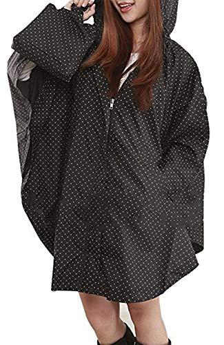 Ultra Imperméables Manteau Punkte Femmes L'eau Portable Imperméable Vent Air Chic léger Schwarze Respirant De En Pluie À Mode Capuchon Plein Poncho U6qqRvfw