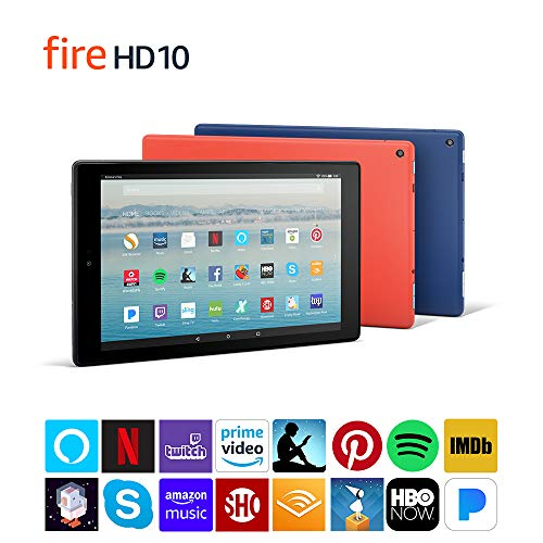 "Fire HD 10 Tablet with Alexa Hands-Free, 10.1"" 1080p Full HD Display, 32 GB, Black"