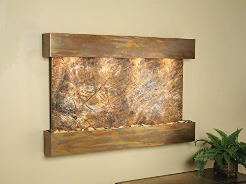 Sunrise Springs Copper with Brown Rainforest Marble Wall Fountain