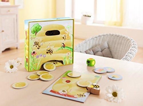 Haba 301838 - Meine ersten Spiele Hanni Honigbiene, kooperatives Farbwürfelspiel für 1-4 Spieler ab 2 Jahren, zum Farbenlernen