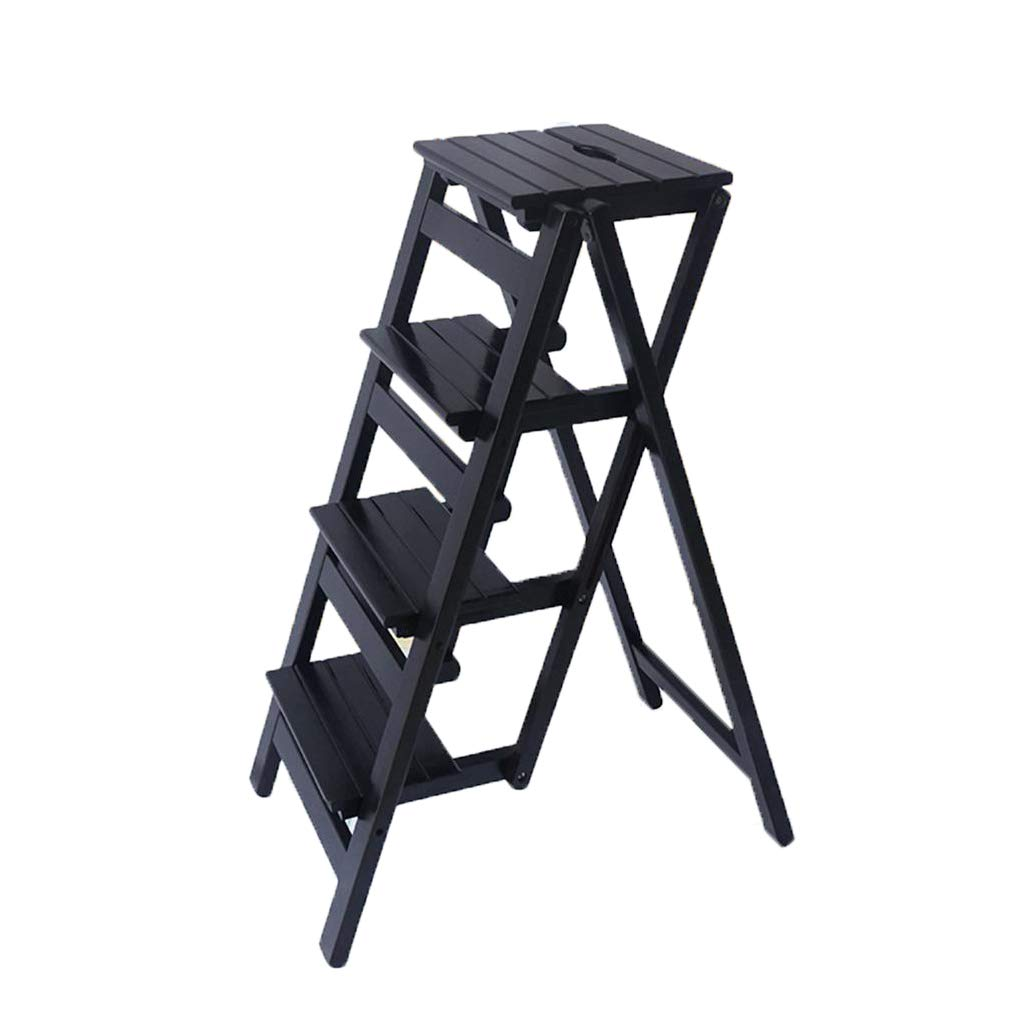 C Solid Wood Folding Ladder Stool Multifunctional Utility Stool Indoor Mobile Ladder Creative Furniture