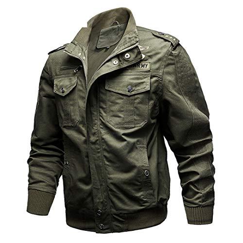 Veste Tactique Hommes Coton Camouflage Militaire Bomber Pilot Vestes Manteaux Vestes Cargo Travail 7